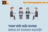 Thủ tục thay đổi ngành nghề kinh doanh công ty tại Quảng Ninh